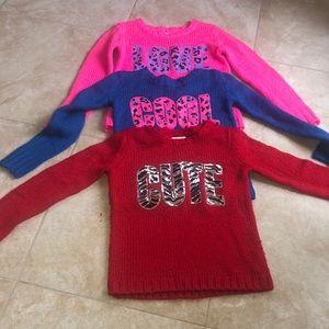 NWOT Justice sweater bundle❤️